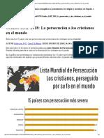 Grafico LMP 2018 La Persecucion a Los Cristianos en El Mundo