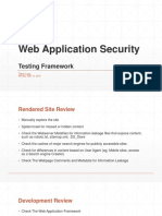 Web App Security Framework