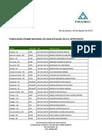 Resultado ENQ 2014.2
