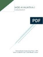 Atividade Avaliativa01 Joao Gualberto Filosofia