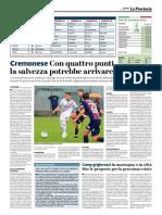 La Provincia Di Cremona 16-04-2019 - Cremonese