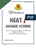 Module Heat_answer Scheme