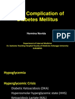 Acute Complication of Diabetes Mellitus