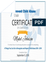 child abuse 2018-2019 course certificate