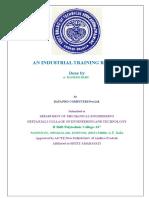 Industrial Training Documentation Certificate