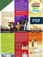 Triptico Informativo Del Año Jubilar Diocesano
