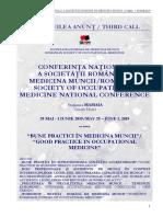 Conferinta Nationala de Medicina a Muncii Anunt 3