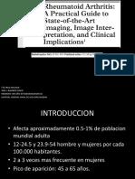 Artritis reumatoide hallazgos por imagen