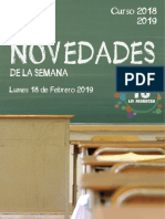 20190218Andalucia Novedades de La Semana