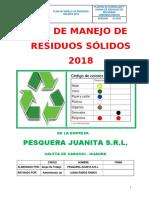 Plan de Manejo de RRSS 2018 Juanita NUEVO