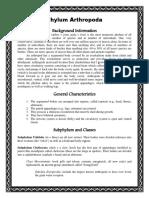 Arthropod Written Document