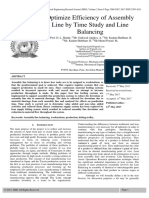 Optimize Efficiency of Assembly Line by Time Study and Line Balancing