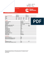 Cummins C350D5 Diesel Generator Data Sheet