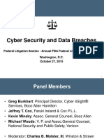 Cyber Security and Data Breaches