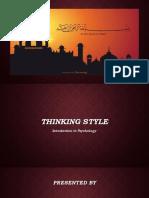 Projet of Psychology (Thinking)