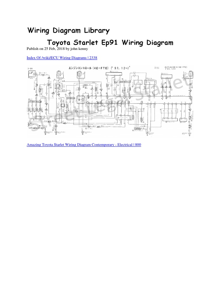 [SCHEMATICS_48IS]  Toyota Starlet Ep91 Wiring Diagram.docx | Electrical Wiring | Technology | Toyota Glanza Fuse Box |  | Scribd