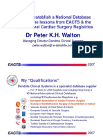 How To Establish A National Data Base