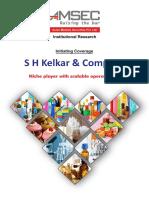 S H Kelkar & Co - Initiating Coverage
