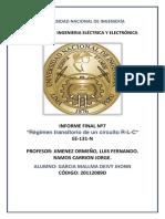"""INFORME FINAL Nº7 """"Régimen transitorio de un circuito R-L-C"""""""