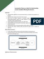 Macro Economics Report