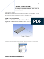 WK 15- Structural Analysis in ANSYS Workbench