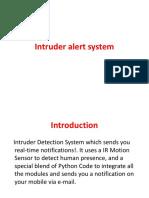 Intruder Alert System