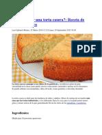 Torta Casera