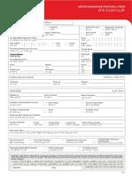 Application Form for Motor Insurance