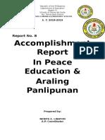 Social Studies Accomplishment Report in a p