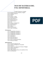 Catalogo de Materias Plan Basico Asambleas de Dios
