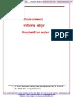 2. Environment Handwritten Notes