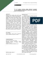 Anti-Fungal Activity of Carica Papaya Leaf Extract
