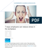 How Can Employers Help Employees Cope With Stress