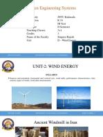 Unit-2 - Wind Energy