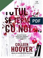 Collen Hoover-Totul Se Termină Cu Noi