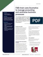 Acumatica Case Study KFC