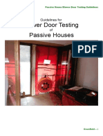 Passive House Blower Door Testing