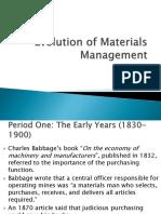 47648500 Evolution of Materials Management