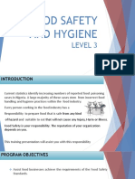 Level 3 Food Safety and Hygiene