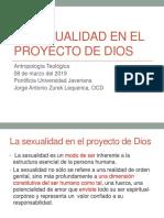 La Sexualidad en El Proyecto de Dios 2019