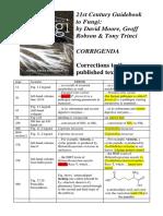 Guidebook Corrections