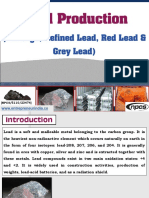 Lead Production (Litharge, Refined Lead, Red Lead & Grey Lead)