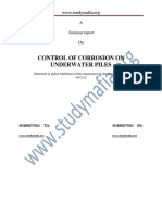 Civil Control of Corrosion on Underwater Piles Report