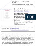 Security Studies Volume 9 Issue 4 2000 [Doi 10.1080_09636410008429414] Elman, Miriam Fendius -- Unpacking Democracy- Presidentialism, Parliamentarism, And Theories of Democratic Peace
