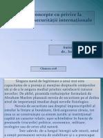 Noile Concepte Cu Privire La Asigurarea Securităţii Internaţionale