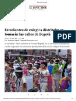 1. Estudiantes de Colegios Distritales Se Tomarán Las Calles de Bogotá