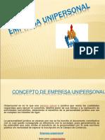 Empresa Unipersonal Diapositivas Final