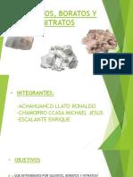 Sulfatos, Boratos y Nitratos Grupo 4