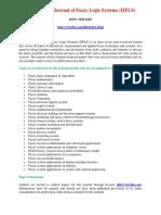 International Journal of Fuzzy Logic Systems (IJFLS)