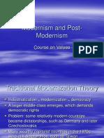 Modernism and Post-Modernism